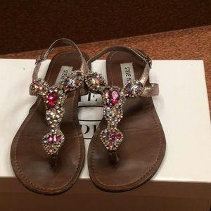 Beautiful sandals, stone jewelry